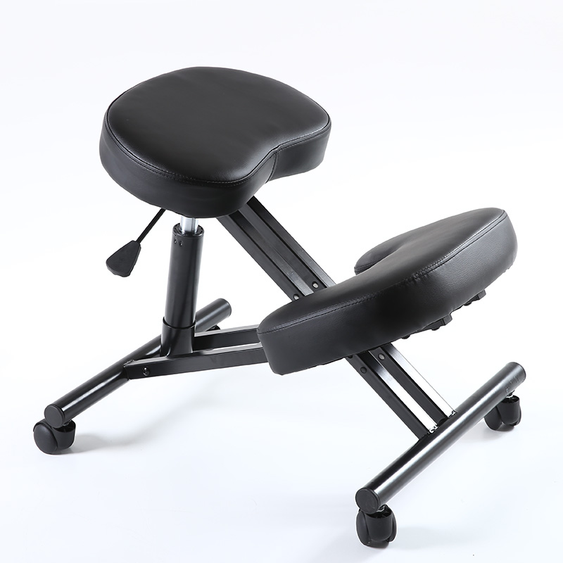 Ergonomically Designed Knee Chair Leather Office Kneeling Chair Ergonomic Posture Chair - Ideal For Neck, Spine, Back Problems