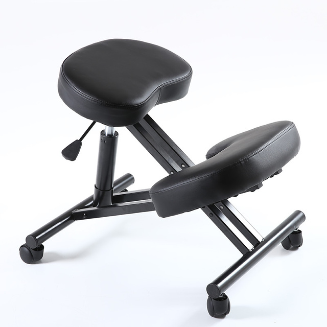 ergonomically designed knee chair leather office kneeling chair