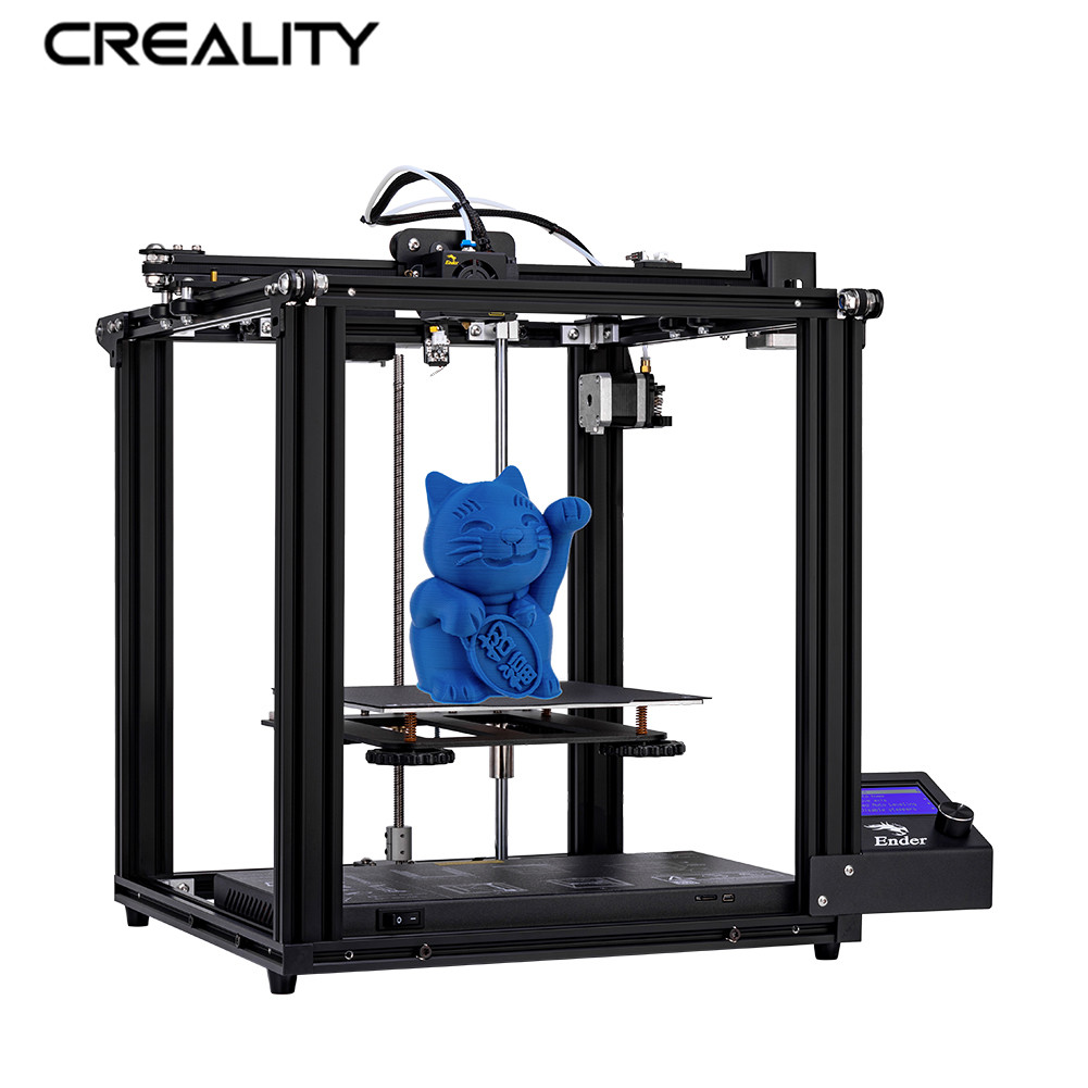 CREALITY 3D Ender-5 Printer Core XY Stucture V1.1.4 Mainboard Add Glass Plate Optional With Power Off Resume Printer DIY Kit