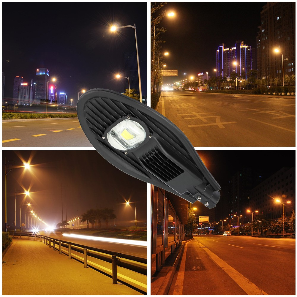 LED 50w Streetlight 12V 24V COB Solar Street Light Road Lamp Garden Park Path light Warm Cold Natural White Outdoor Lighting