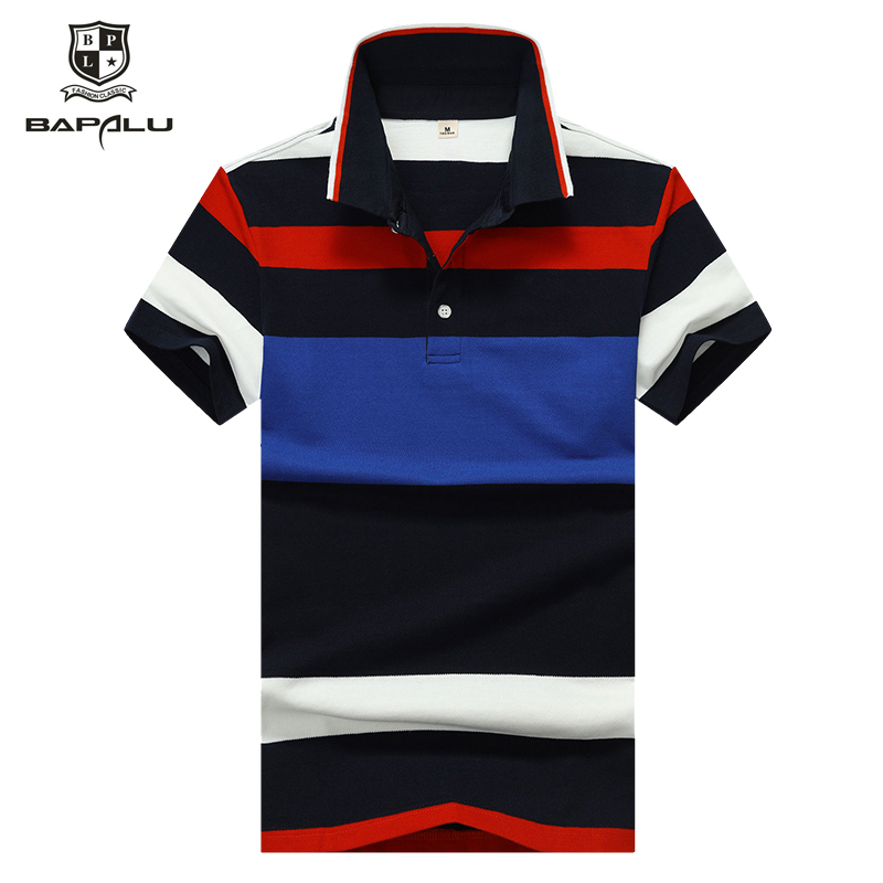 Summer new   Polo   shirt men's stitching lapel   Polo   shirt men's fashion casual business   Polo   shirt 8951