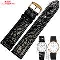 Laopijiang длительного мужчины женщины из натуральной кожи ремешок для мужчин и женщин 13 мм 18 мм 20 мм натуральная кожа часы