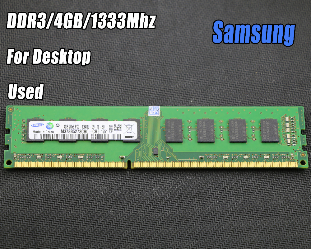 Used Original Samsung 4gb Ddr3 Pc3 10600 1333mhz Desktop Pc Dimm Memori Ram Memory 240 Pins For Intel Amd Fully Compatible 4g 1333 In Rams From Computer