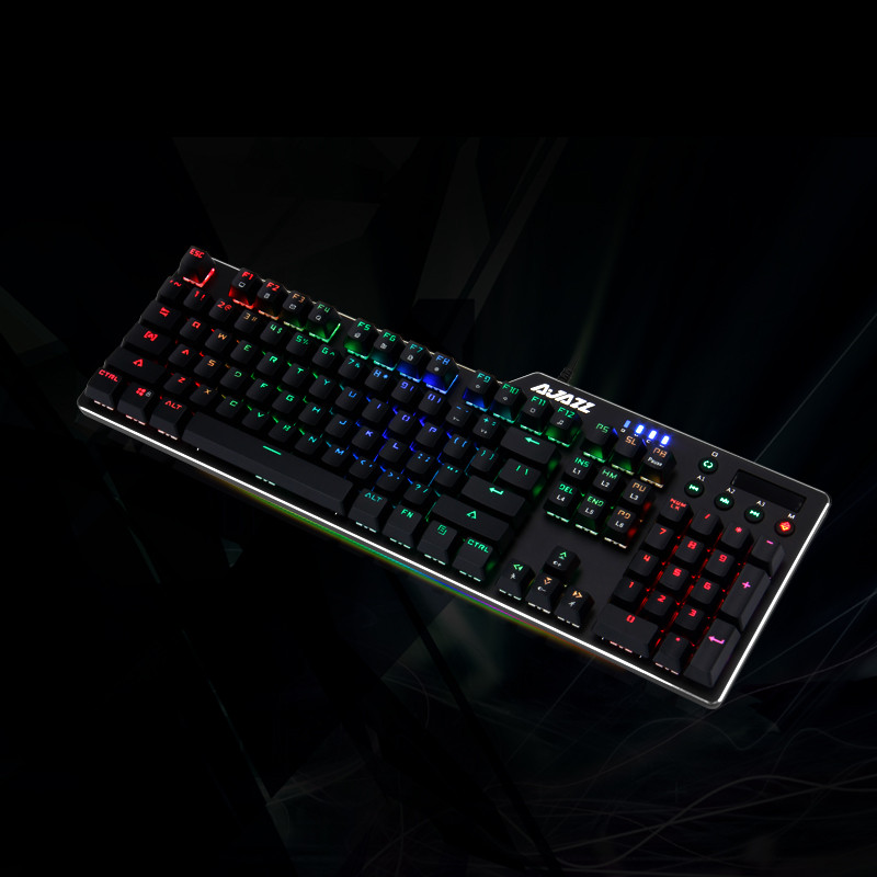 Image 3 - RGB Wired Game Green Shaft Mechanical Keyboard With Backlight Alloy usb 110 keys Green Axis Gaming Keyboards for Tablet pc Q70-in Keyboards from Computer & Office