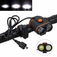 Advertencia 10000LM 2x XM-L2 LED frontal Bicicleta lámpara alta-baja luz Bicicleta antorcha montaña Bicicleta accesorios