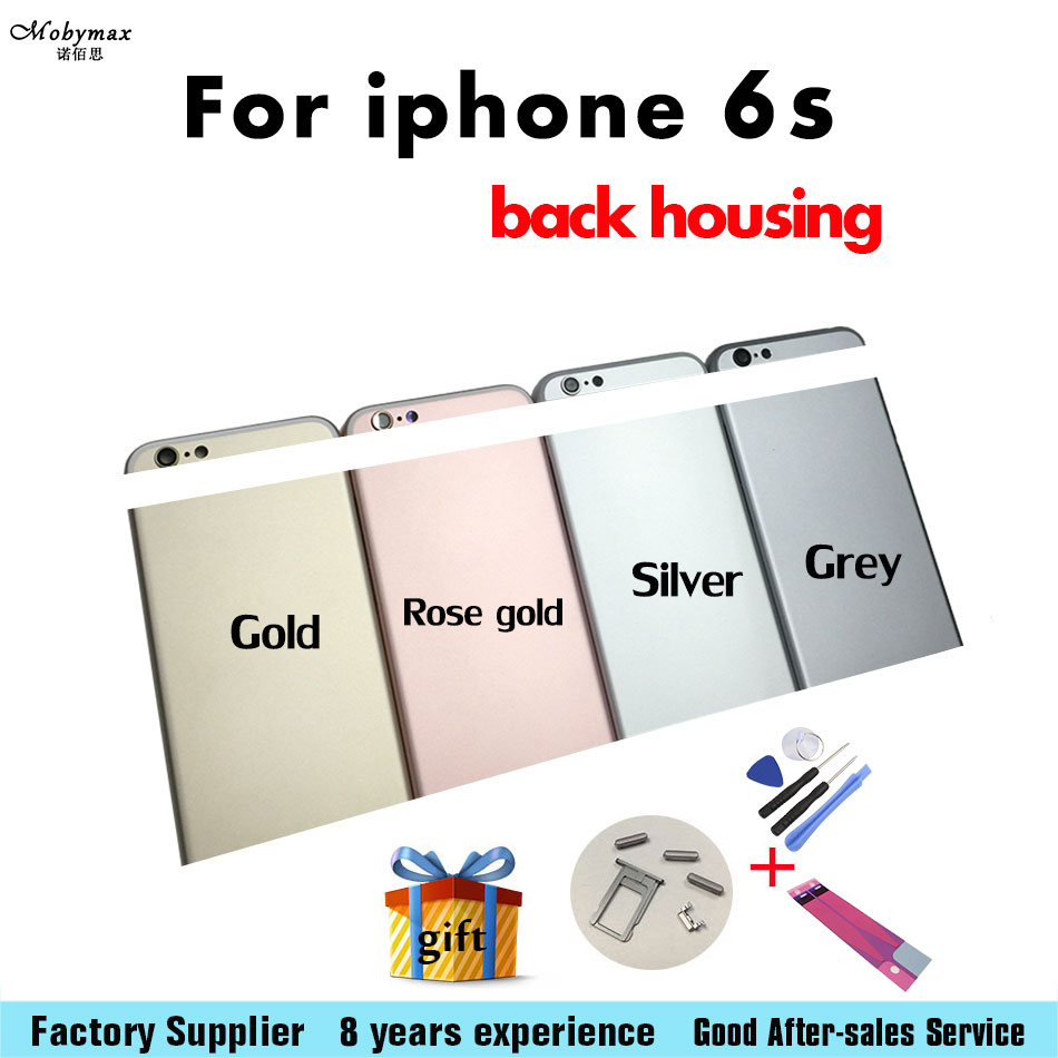 Mobymax Battery-Cover IMEI Chassis Back-Housing Middle-Frame iPhone 6s for Door Can Custom