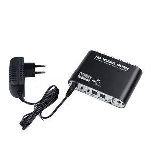 Image 3 - Kebidumei 5.1 CH אודיו מפענח אופטי דיגיטלי כדי 5.1 מגבר אנלוגי Converte SPDIF קואקסיאלי RCA DTS AC3 עם האיחוד האירופי תקע