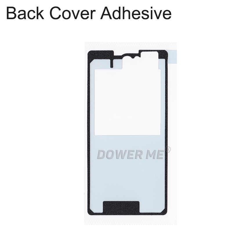 4 pièces/ensemble avant LCD milieu cadre couverture arrière imperméable adhésif ensemble complet bande autocollant pour SONY Xperia Z1 Compact M51W Z1mini