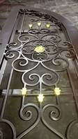 Hand Crafted Wrought Iron Entry Doors, 12 Gauge Wrought Iron, 72 x 81 HC d6