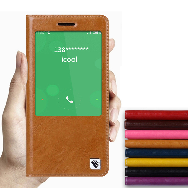 Горячая! Для Meizu MX5 MX 5 высокое качество натуральная кожа смарт-чехол чехол окно роскошные флип стенд мешок мобильного телефона