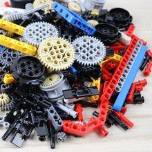 250g Technic Teile Groß Bausteine Getriebe Rad Rack MOC Auto Zubehör Pin Stecker Ziegel Spielzeug Kompatibel mit Lego