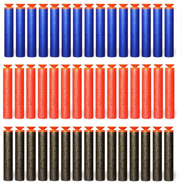 100 piezas suave cabeza redonda hueca y lechón repuesto dardos pistola de juguete Nerf balas para serie EVA juguetes de regalo militar para el chico de los niños