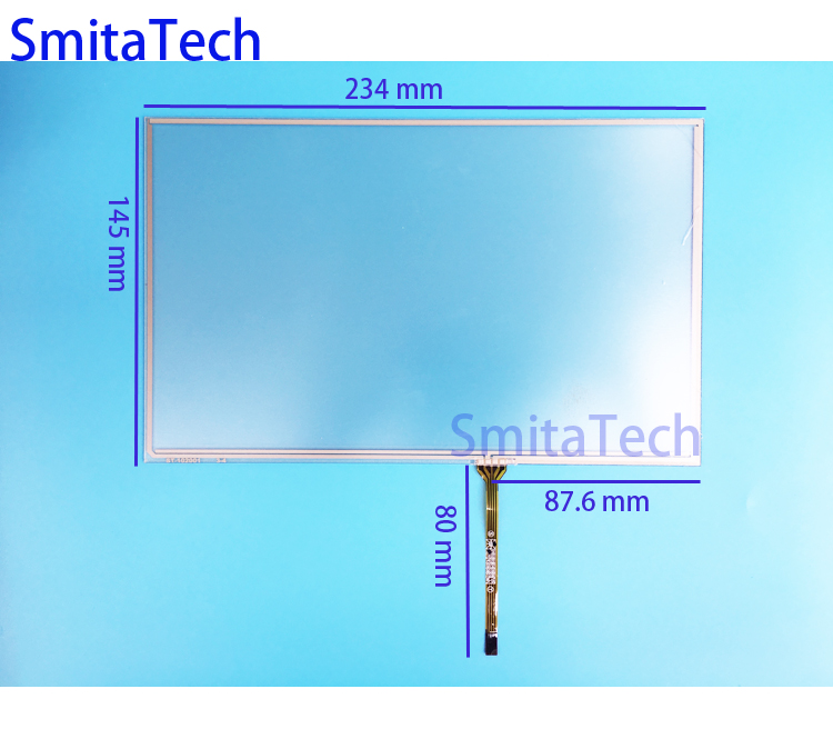 10.2 inch 234mm*145mm 4wire Resistive For AT102TN03 V.8 V.9 Touch screen Digitizer panel ST-102001 234x145mm new 3 5 inch 4wire resistive touch panel digitizer screen for texet tn 300 gps free shipping