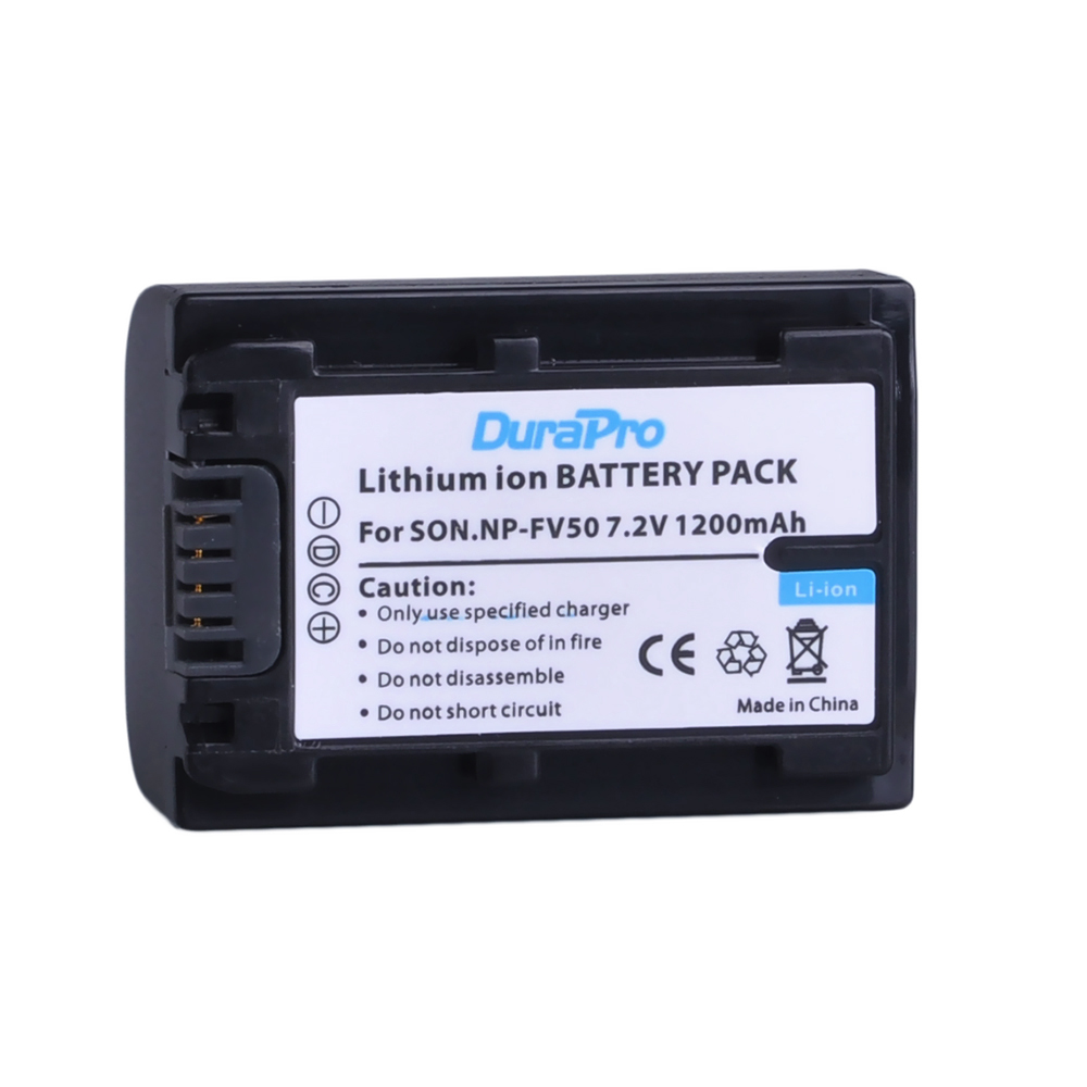 1 Pcs x DuraPro NP-FV50 NP FV50 Battery For Sony NP-FV30 NP-FV40 HDR-CX150E HDR-CX170 HDR-CX300 Camera durapro 4pcs np f970 np f960 npf960 npf970 battery lcd fast dual charger for sony hvr hd1000 v1j ccd trv26e dcr tr8000 plm a55