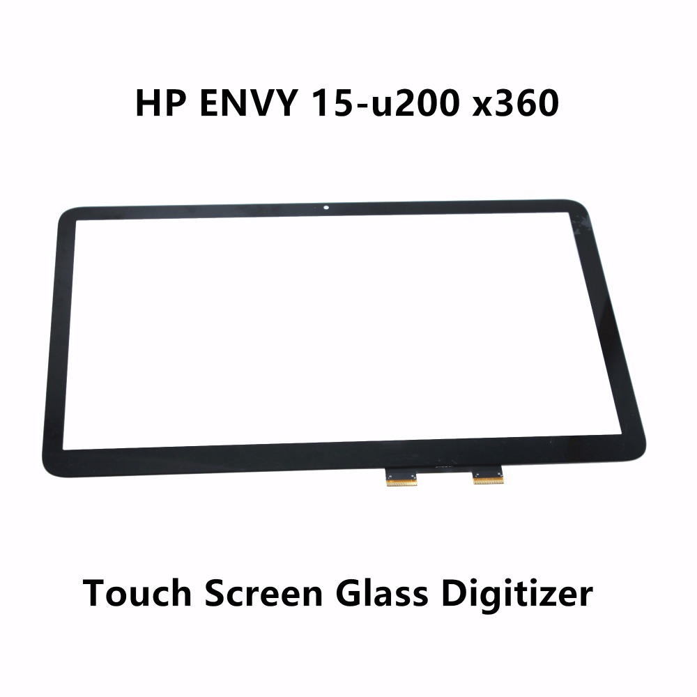New Genuine 15.6'' Laptop Touch Screen Digitizer Front Glass Lens Panel Replacement Repairing Part For HP ENVY 15t-U200 X360 цена