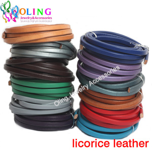 joyeria DIY 25CM/String Multicolor 10*6mm Real Licorice Leather Cords Supplies wire/cord women Bracelet Bracelets jewelry making