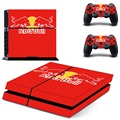 Red Bull New Vinyl Decal PS4 Skin Sticker for Sony Playstation 4 PS4 Console and 2PCS Controller Stickers