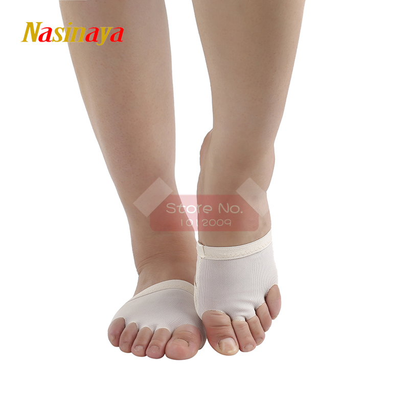 5 Toes Rhythmic Gymnastics Socks Pad Half Shoes Roupa Ginastica Competition Belly Sole Dance Modern Protect Beige Air Mesh