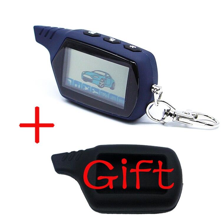 A61 2-way LCD Controle Remoto Fob Chave Chaveiro Cadeia A61 Segurança Do Veículo em Dois Sentidos do Sistema de Alarme de Carro Russa starline A61