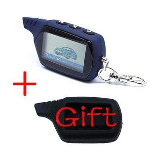 Image 1 - Porte clés télécommande LCD A61 2 voies, système dalarme de sécurité pour véhicules, russe Starline A61