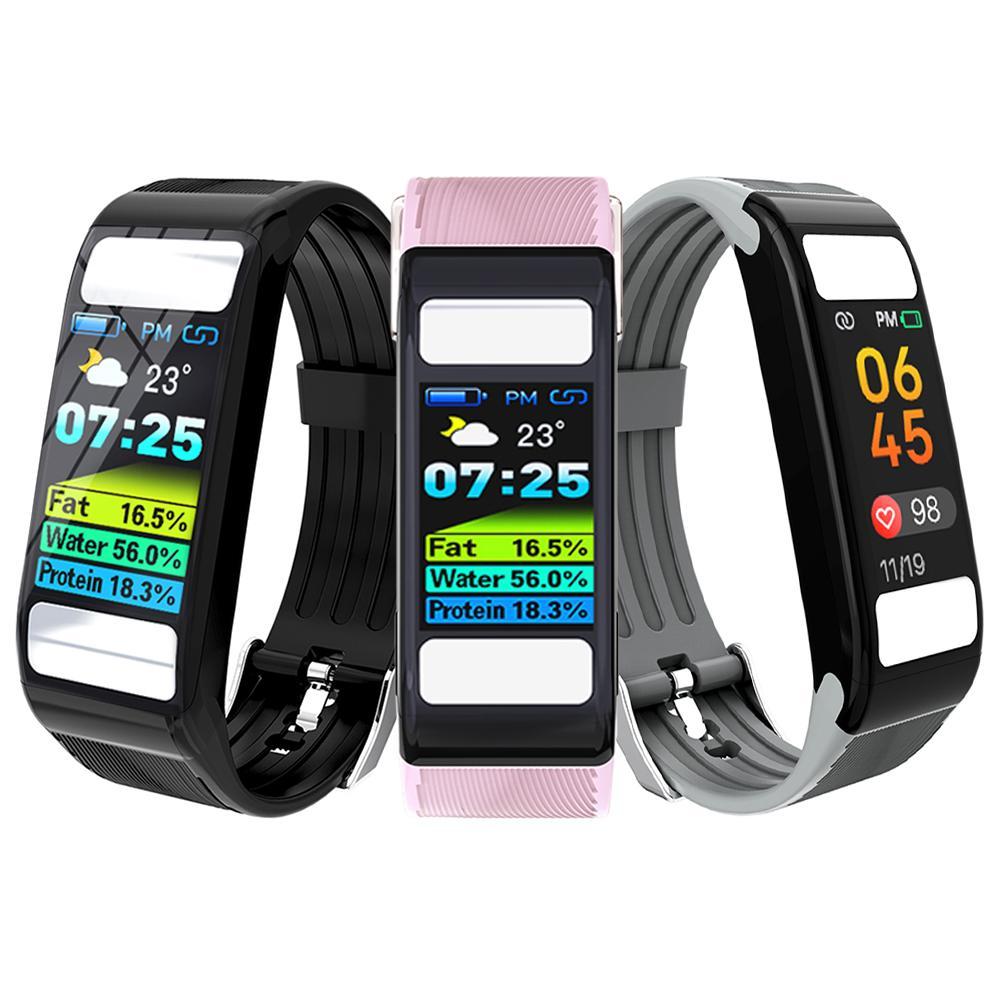 T9 moniteur de graisse corporelle Calories Gym montres Bracelet de fréquence cardiaque intelligent Tracker de Fitness Bracelet intelligent pour Android iOS