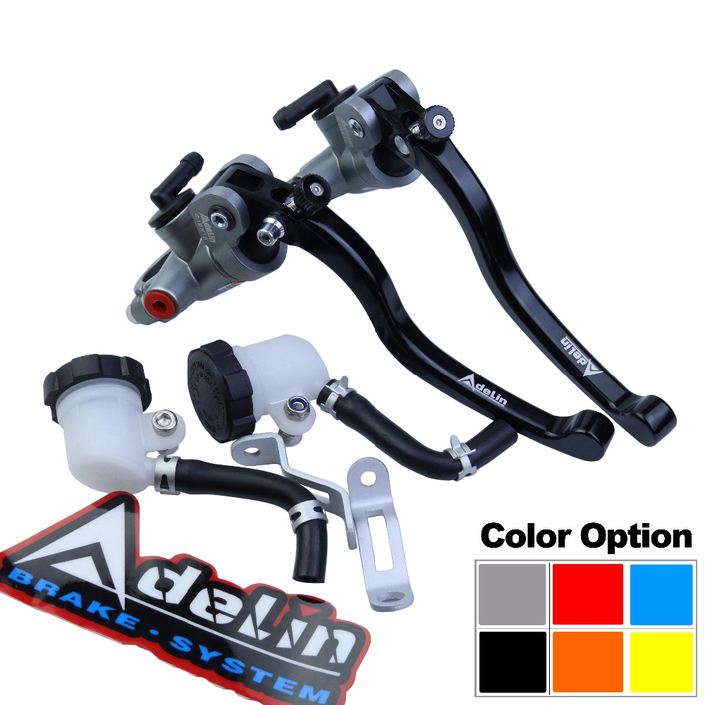 Universal 16mm 17.5mm 19mm Adelin PX1 motorcycle brake clutch pump master cylinder lever handle For Yamaha Kawasaki Suzuki universal 17 5mm frando px1 motorcycle brake clutch pump lever radial master cylinder 7 8 22mm for yamaha kawasaki suzuki honda