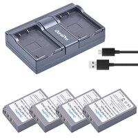 4* BLS 5 BLS50 BLS5 BLS 5 2000mAh battery+USB Dual Charger for OLYMPUS EP1 PL2 PL5 PL6 E PL7 E PM2 E450 E600 E620 Stylus EM10 et