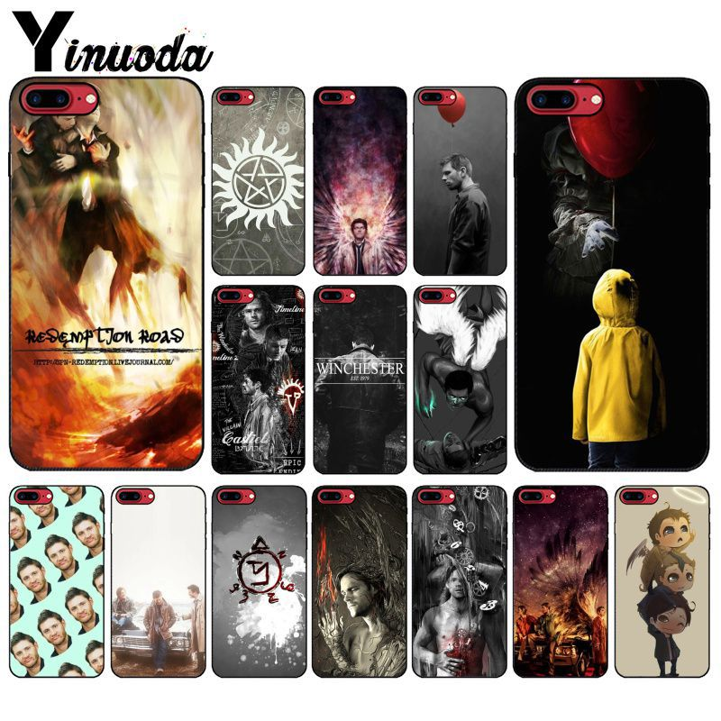 Yinuoda Supernatural Jensen Ackles Dean Winchest TPU black Phone Case Cover Shell for iPhone 8 7 6 6S Plus 5 5S SE XR X XS MAX-in Half-wrapped Cases from Cellphones & Telecommunications