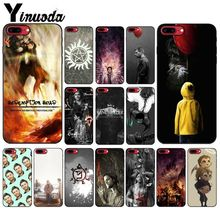Yinuoda Supernatural Jensen Ackles Dean Winchest TPU black Phone Case Cover Shell for iPhone 8 7 6 6S Plus 5 5S SE XR X XS MAX