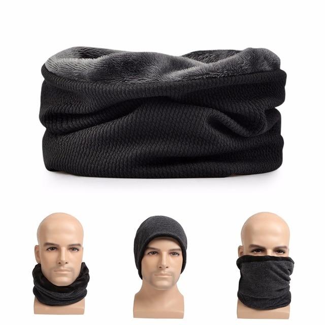 a5c1f99b20cfa Beanie for Men Women Baggy Skull Cap Slouchy Fleece Thicken Winter Warm Hat  Ski Headgear Multifunction 3 in 1 Scarf Face mask