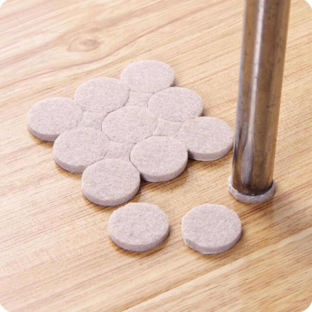 Top Quality 18PCS Oak Furniture Chair Table Leg Self Adhesive Felt Pads Wood Floor Protectors Furniture Table Leg Feet Pads
