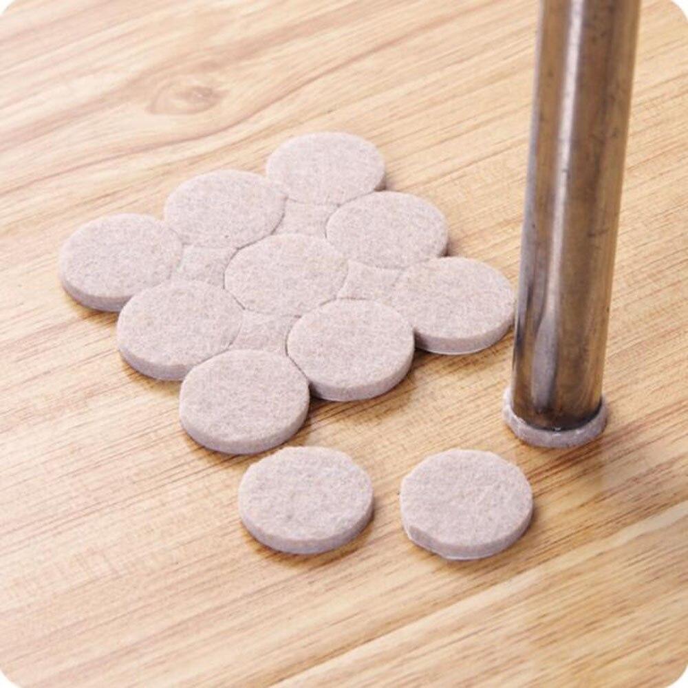 Top Quality 18PCS Oak Furniture Chair Table Leg Self Adhesive Felt Pads Wood Floor Protectors Furniture Table Leg Feet Pads
