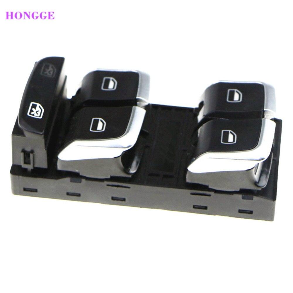 HONGGE Chrome plating Electric Window Control Switch Button For A4 B8 A4 Q5 8R Q3 8U 8KD959851A