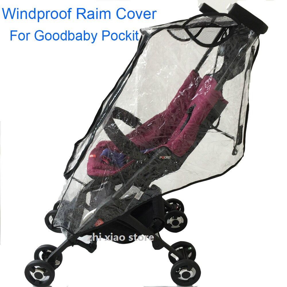 1:1 accessoires de poussette housse de pluie pour Goodbaby POCKIT imperméable à l'eau coupe-vent housse anti-poussière pour GB A 2S 3S 3C PLUS 18CN 2D