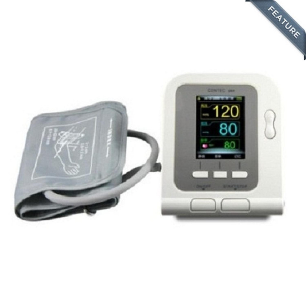 Arm Blood Pressure Monitor Tensiometro Tonometer Sphygmomanometer Monitor with USB cable +PC software Contec08A abpm50 ce fda approved 24 hours patient monitor ambulatory automatic blood pressure nibp holter with usb cable