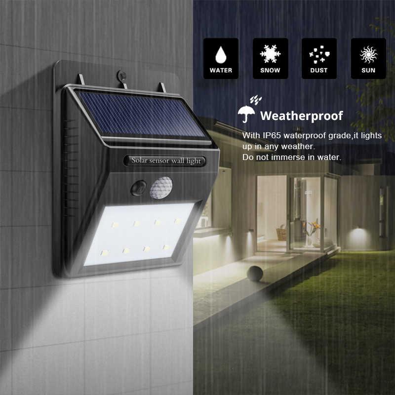 PIR датчик движения светодиодные светильники для дорожек лампы Открытый водонепроницаемый Энергосберегающий Солнечный настенный светильник двора забор уличное садовое освещение