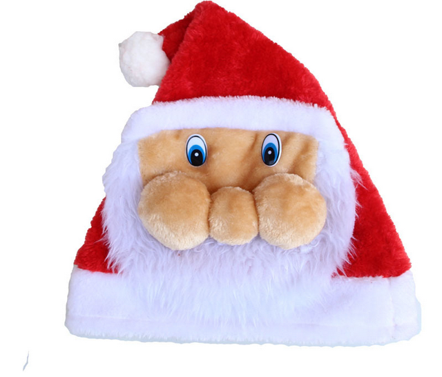 02298603eb Christmas Party Santa Hat Xmas Fancy Dress Costume Santa Claus Father  Christmas Cap Gift Decor Cosplay New Year Xmas Supplies
