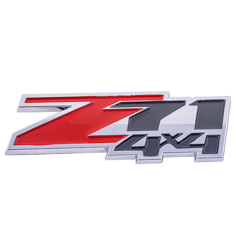 RED ABS Z71 4x4 Emblem Badge Passer til Chevrolet Silverado 1500 / GMC Sierra One stk