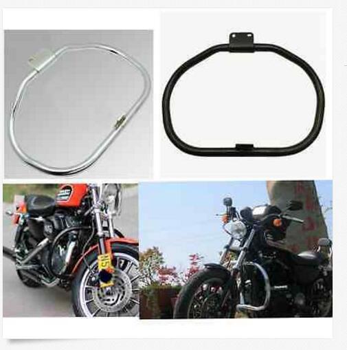 Motorcycle Engine Guard Crash Bar For Harley Davidson Sportster XL883 XL1200 2004 2014 Black