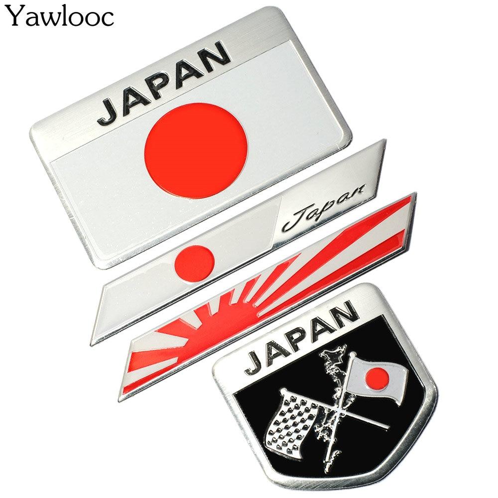 Japanese Flag Emblem Badge Car Styling Motorcycle Sticker ...