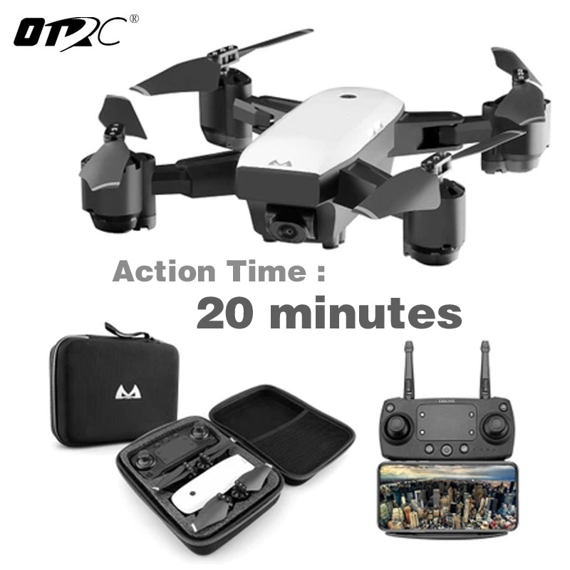 Drone With HD 1080P Wifi Camera Quadrocopter Hovering FPV Quadcopters 5MP Folding RC Helicopter Storage bag toy for boy s20w Квадрокоптер