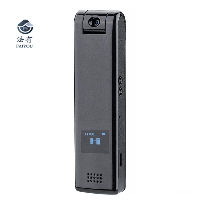 HD 1080P Police Body Lapel Worn Video Camera Pen Camera Voice Control Recorded Mini Camcorder With OLED Screen Play External