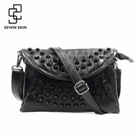 SEVEN SKIN Fashion Design Women Messenger Bag Female Genuine Leather Small Shoulder Bag Envelope Women Clutch