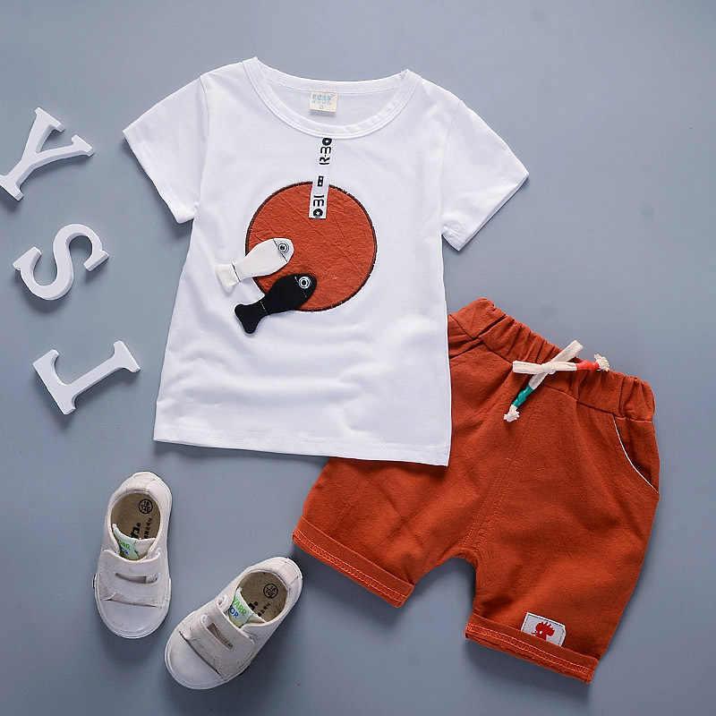 059c2894d6f BibiCola 2018 Summer Baby Boys Clothing Sets Toddler Boys Tops+Shorts Pants  Clothes Kids Sport
