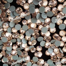 6mm lt peach color with 288 pcs per pack ;14 cutting facets stones free shipping on line hot fix rhinestones supplier