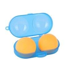 Портативный контейнер для настольного тенниса, пластиковый брелок для ключей, чехол для хранения инструмента для 2 мячей для пинг-понга, аксессуары для спортивных тренировок, Новинка