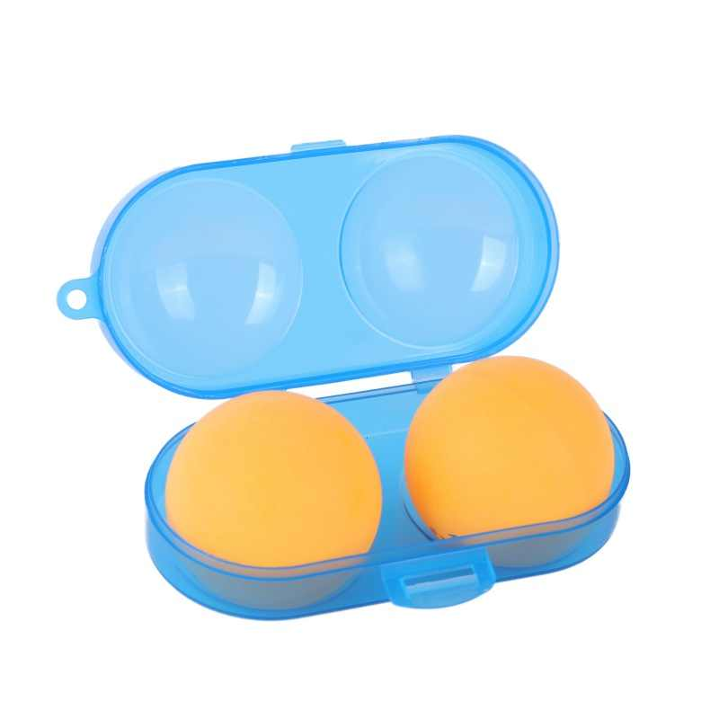 Portable Table Tennis Container Box PP Plastic Key Chain Tool Storage Case For 2 Ping Pong Balls Sports Training Accessories