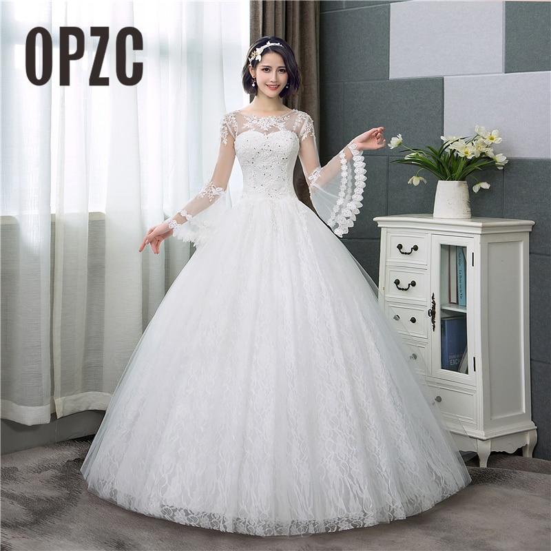 Appliqures Lace Wedding Dress 2018 New Fashion Simple O