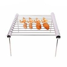 Outdoor Facile Smontaggio Food Grade In Acciaio Inossidabile Barbecue Griglia A Carbone di Campeggio Esterna Barbecue Portatile Mini Fornello