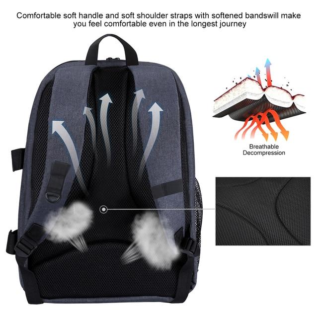 Waterproof DSLR Backpack With Charge Headphone Jack Video Digital DSLR Camera Bag Outdoor Camera Photo Bag for Nikon Canon Lens 6
